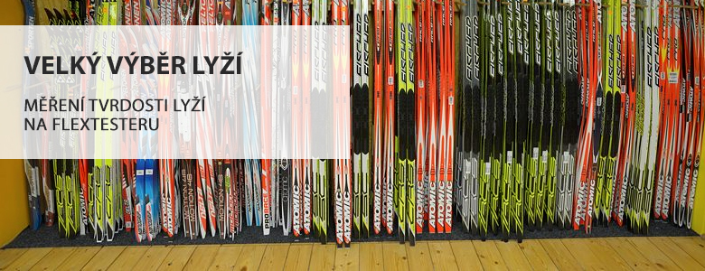 Velký výběr lyží