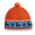 Dětská čepice Kama pletená B37 oranžová