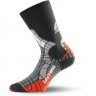 Ponožky LASTING SCI 903 černo-oranžové