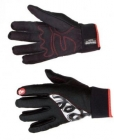 Běžecké rukavice Rex KUUSAMO černo/bílé