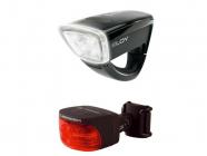 Přední+zadní světlo na kolo Sigma Eloy black Combo