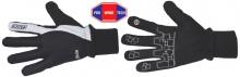 Běžecké rukavice  KV+ Slide - černé/bílé