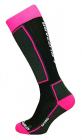Dětské lyžařské ponožky  Blizzard Ski socks junior,black/pink  2013/14