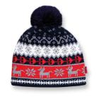 Dětská pletená čepice  Kama B35 modrá
