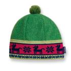 Dětská pletená čepice Kama B37 zelená