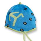 Dětská pletená čepice Kama B41 tyrkysová