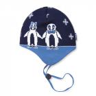 Dětská pletená čepice Kama B51 tmavě modrá