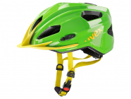 Dětská cyklistická helma Uvex Quatro junior  green yellow 2015