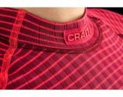 Termoprádlo 1.vrstva  Craft triko Active Extreme LS reflex.růžové pruhované dámské 1903408-2482
