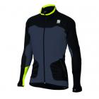 Běžecká bunda Sportful APEX WS JACKET 0400725 černo/šedivo žlutá pánská