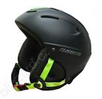 lyžařská helma Blizzard Mega, black matt lime 2015/16