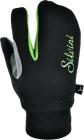 Běžecké rukavice dětské Silvini Texel - černo zelené