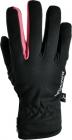 Běžecké  a cyklistické rukavice dámské Silvini Trelca - černo růžová