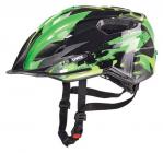Dětská cyklistická helma Uvex Quatro junior black green 2016