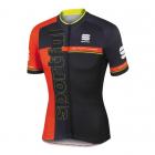 Cyklistický dres pánský Sportful Squadra jersey černo červený