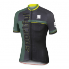 Cyklistický dres pánský Sportful Squadra jersey černo šedý
