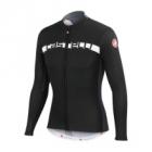 Cyklistický dres  Casttelli 4515018 dres Prologo 4 dl.rukáv - černo-šedo-bílý pánský