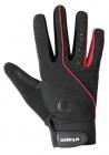 Cyklistické rukavice prstové gelové Etape Spring 1403905 černo červené uni