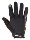 Cyklistické rukavice prstové gelové Etape Spring 1603918 černá limetka uni