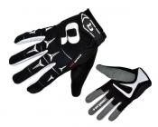 Cyklistické rukavice prstové gelové HQBC Rider černá bílá