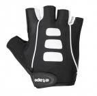Cyklistické rukavice gelové Etape Esprit 1403219 pánské černo bílé