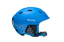 Lyžařská helme Blizzard Viva Demon, blue matt / white flowers 2017/18