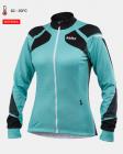 Cyklistický dres dámský dlouhý rukáv Kalas Women Titan X8 tyrkys 2032-064
