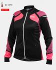 Cyklistický dres dámský dlouhý rukáv Kalas Women Titan X8 fluo/černý 2032-066
