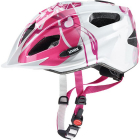 Dětská cyklistická helma Uvex Quatro Junior, Pink - silver 2019