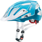 Cyklistická helma Uvex Quatro, Lightblue white 2018