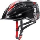 Juniorská cyklistická helma Uvex Quatro junior, Black red 2018