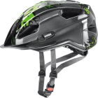 Juniorská cyklistická helma Uvex Quatro junior, Anthracite green 2018