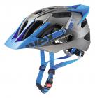 Cyklistická helma Uvex Quatro pro, Dark silver - blue mat 2018