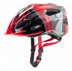 Dětská cyklistická helma Uvex Quatro Junior, Red - anthracit 2017