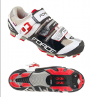 Tretry-boty na kolo Force MTB hard, černo-bílé
