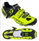 Tretry-boty na kolo Force MTB hard, fluo-černé