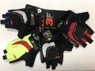Cyklistické rukavice gelové 3F vision Racing team 2108 černo-červené