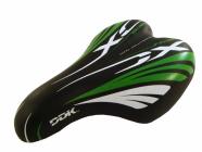 Sedlo na dětské kolo DDK F160c zeleno černé dětské