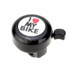 Zvonek na kolo I love my bike černý