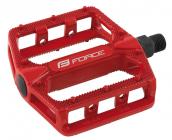 Pedály Force BMX HOT hliníkové červené