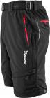 Cyklistické kalhoty Silvini MTB RANGO MP373  volné černé pánské