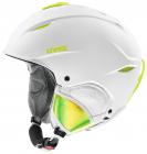 Lyžařská helma Uvex Primo, white-lime mat 2018/19
