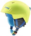 Dětská lyžařská helma Uvex Manic pro, lime-světle modrá met mat 2018/19