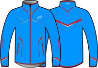 Běžecká bunda KV+ Davos jacket blue 8V140-32 2018/19