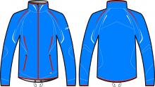 Běžecká bunda KV+ Cross jacket blue 9V110-2 2018/19
