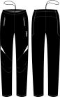 Běžecké kalhoty KV+ Lahti black 7V117-1 2018/19