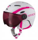 Dětská lyžařská helma Etape Rider Pro bílá/růžová 2018/19