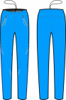 Běžecké kalhoty KV+ Premium pants unisex modré 9V146-2 2018/19