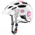 Dětská cyklistická helma Uvex Finale junior, Heart white - pink