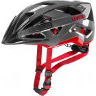 Cyklistická helma Uvex active, Antracite red 2019